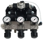 control panel of Binks diaphragm pump